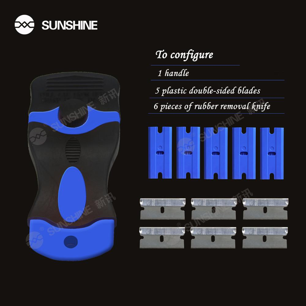 Купить с кэшбэком SUNSHINE S-023 Multipurpose Film Sticking Degumming Tool The screen defoaming and Degumming Set