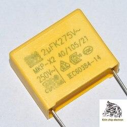 500 unids/lote nuevo MKP-X2 condensador de seguridad 2UF 275V/250V espaciado de pines 22mm