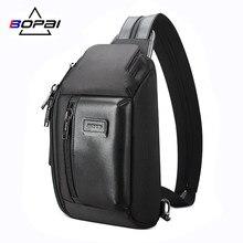 BOPAI 2020 nouveau sac de poitrine pour hommes multifonction taille mode Bum sacs voyage bandoulière Fanny Pack sport décontracté mâle sac à main