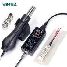 YIHUA 8858 110 В 220 в портативный BGA наладочная станция для пайки цифровой горячий воздух фен Тепловая пушка паяльная станция