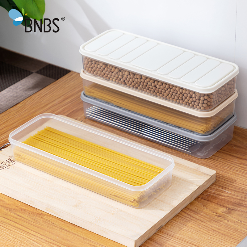 Kitchen Items Noodles Container For Food Cereals Plastic Storage Box Tableware Cultery Organizer Capacity For Loose Products