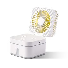 цена на Portable Mini Usb Rechargeable Humidifying Spray Fan Household Humidifying Fan For Small Desks And Household Fans