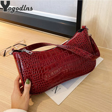 PU Leather Women Crocodile Pattern Shoulder Bag Mini Hand Bag Famous Brand Designer Fashion Pochette Femme Small Tote Purse(China)