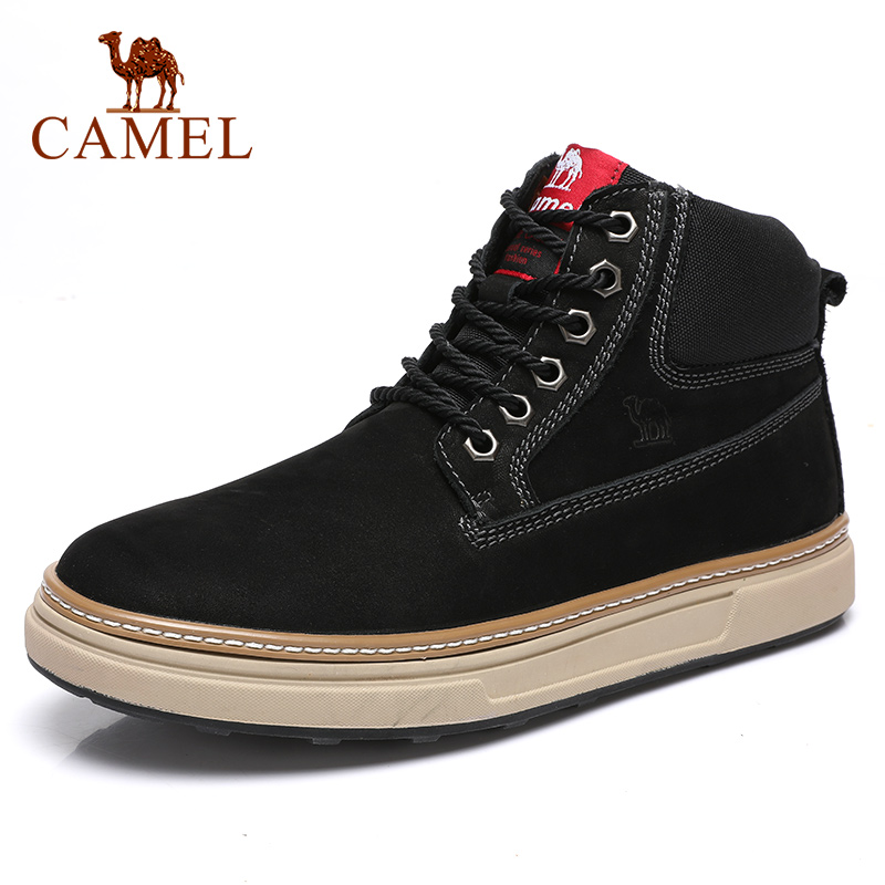 CAMEL New Fashion Outdoor Tooling Boots Genuine Leather Men's Shoes Grinding Casual Short Martin Ankle Boots zapatos de hombre