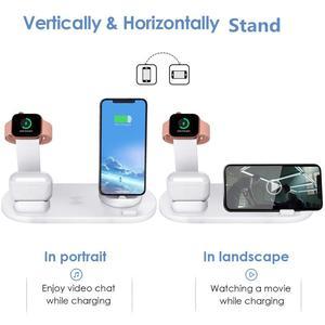 Image 5 - Fdgao 10 w qi rápido carregador sem fio 6 em 1 estação doca de carregamento para apple watch 5 4 3 airpods pro suporte para iphone 11 xs xr x 8