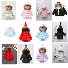 Jacket Outerwear Hoodies Kids Coat Winter Clothes Girl PINK Baby Children Boy Warm RED