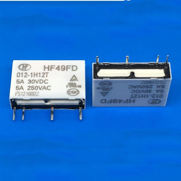 10PCS 12V 4pins HF49FD-012-1H12 5A 250VAC Relays