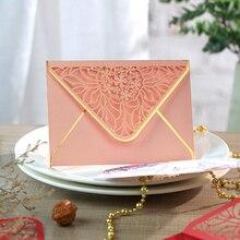 Роскошные конверты для горячего тиснения, вечерние конверты для приглашений, свадьбы, бизнеса, открытия, 175 мм X 125 мм, 15 шт./лот