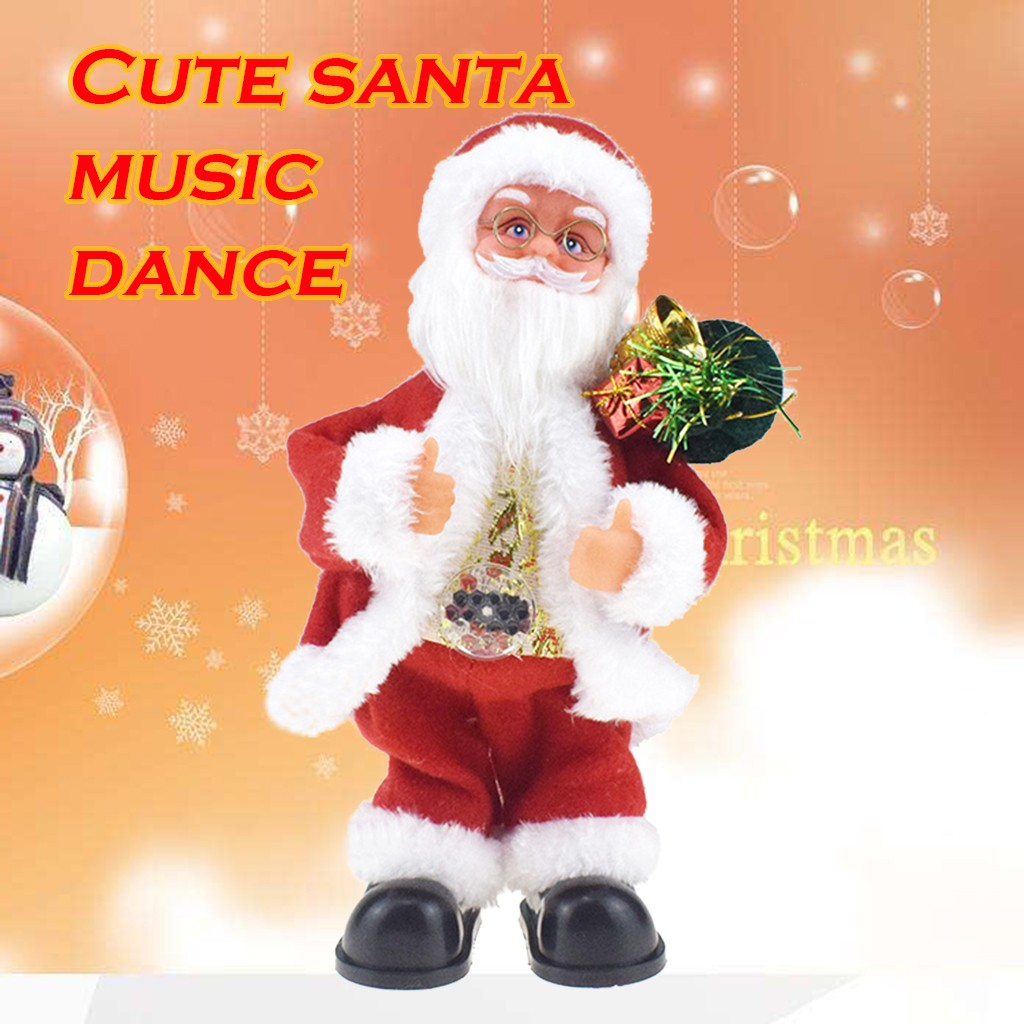 MUQGEW Christmas Toy Gift Santa Claus Doll Toys Electric Singing Dancing Toy New Year Gift Christmas Children Gh6