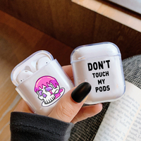 protective tpu Cute Case For Apple AirPods Case Cartoon Bluetooth Earphone Protective Soft TPU Cover For Airpods 1 2  case box For Air pods 2 1 (2)