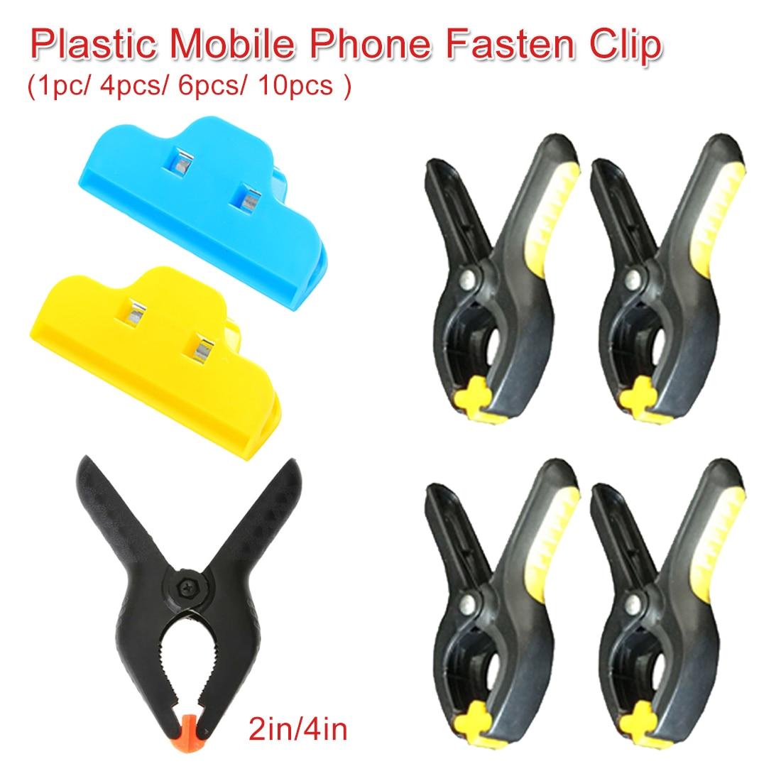 Plastic Clip Fixture Holding Repair Tool 4pcs/6pcs/10pcs Phone Screen Fastening Clamp For IPhone Repair Mobile Phone Fasten Clip