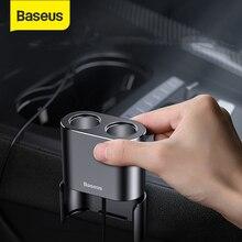 Baseus carregador de carro soquete divisor cigarro isqueiro 2 portas 3.1a carregamento duplo usb 80w duplo usb isqueiro