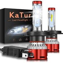 2x H1 H4 9012 H11 H7 LED Car Headlight Bulbs 6000K for Ford Focus 2 3 MK2 Fiesta Fusion Ranger Mondeo MK3 MK4 C-max S-max Kuga