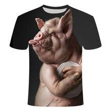 3D printing pet pig pattern boy and girl fashion t-shirt high quality short sleeve shirt summer clothes tops t-shirt clothing