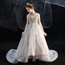 Пышное Платье для девочек it's yiiya b062 роскошное серое