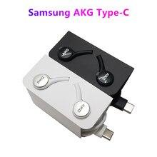 Samsung type-c akg in-ear fio original controlado para galaxy note10 + s20 ultra a90 5g a80 a70 a71 a60 a50s a51 a70s a40s m30s