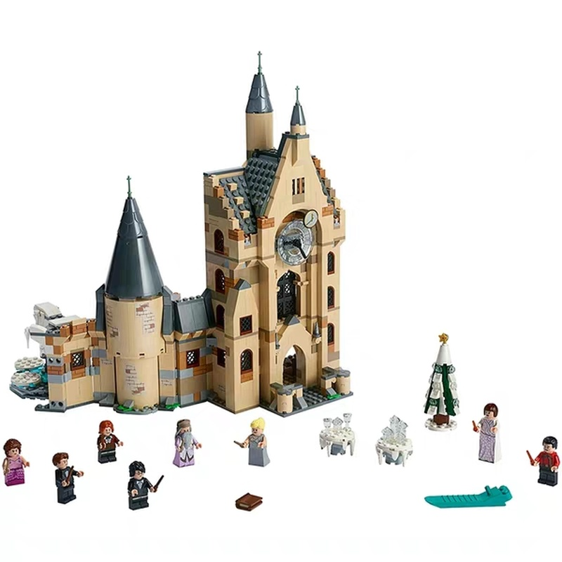 2019 New HarryING Compatible Legoing Great Hall 75954 Clock Tower 75948 Children's Assembled Building Blocks Toys Christmas