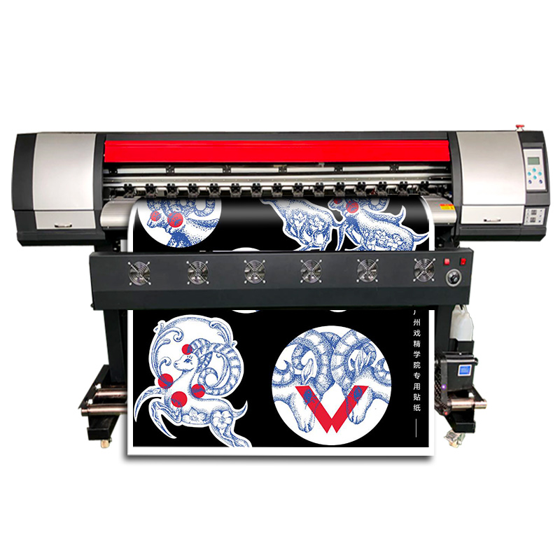 Wide Format Digital Printer 160cm CMYK Color Sticker Plotter Machine Reliable Quality DX7 Printer Eco Solvent Printer