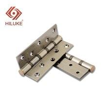 HILUKE stainless steel hinge for wooden door bedroom security 2pcs /set