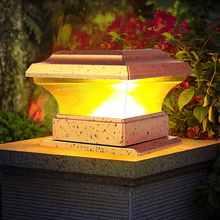 Solar Power Fence Post Lights Waterproof Outdoor Garden Landscape Yard Pillar Lamp Warm Light