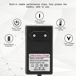 Image 2 - Зарядное устройство для литий ионных аккумуляторов, 21 в, 2 А, 100 240 В