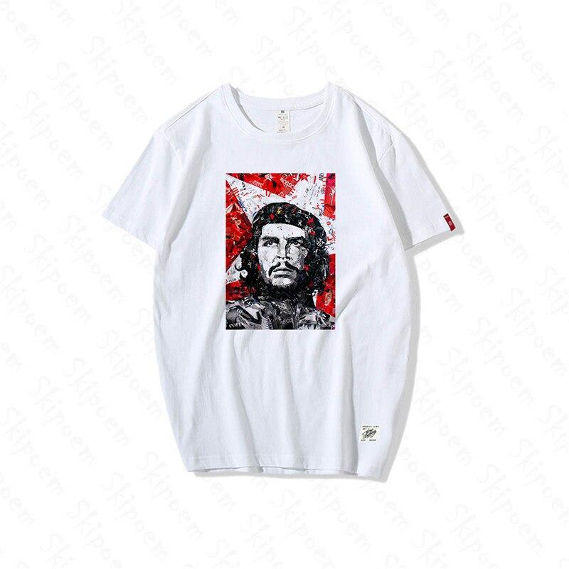 Che Guevara National Hero Protrait Tshirt Men Fashion Harajuku Casual Hip Hop Short Sleeve 100% Cotton Streetwear Summer Tops|T-Shirts| - AliExpress