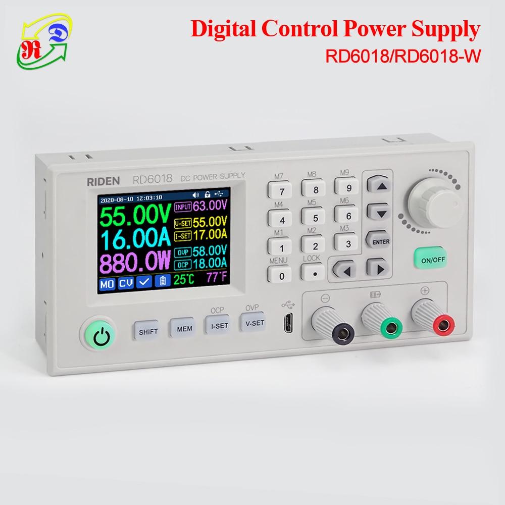 RD RUIDEN RD6018 RD6018W 60V USB WiFi DC DC adjustable Step Down Power Supply Module Buck converter & 800W 1000W AC to DC PSU