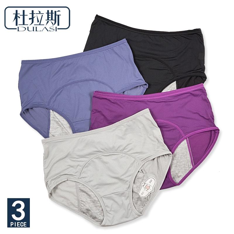 DULASI  Leak Proof Menstrual Panties Period Pants Women Underwear Cotton Waterproof  Briefs Dropshipping