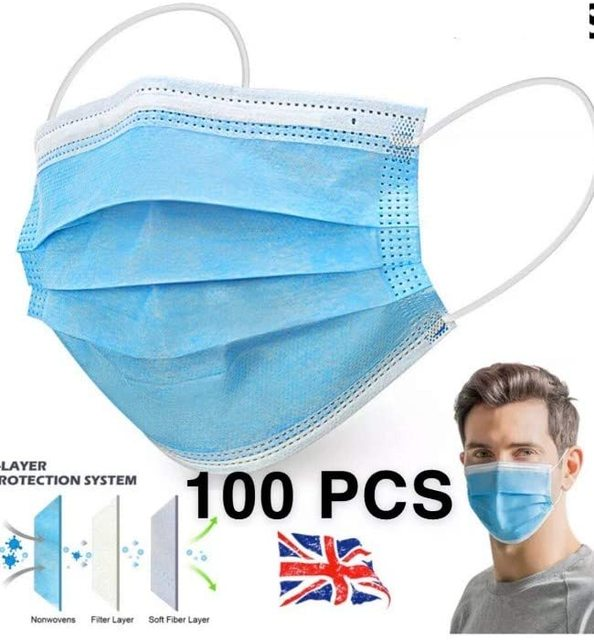 N95 Face Mouth Anti Virus Mask Disposable Protect 3 Layers Filter Mouth Masks Mouth-muffle Bacteria Proof Flu Mask FFP2