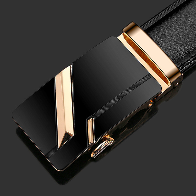 Designer Automatic Buckle Cowhide Leather Luxury Belt 2