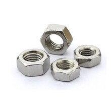 цена на M3/M4/M5/M6/M8-M16 Hex Nut Hexagon Nuts Ecrou Tuercas Metric Thread Suit Screw Caps for Bolts Tuerca Cejilla Moeren Inox DIN934