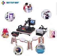 Freeshipping Wtsfwf 30*38CM 8 in 1 Combo Heat Press Machine 2D Thermal Transfer Printer for Cap Mug Plate T-shirts Printing