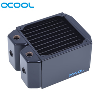 Original Alphacool NexXxoS Monsta computer case watercooling 80mm thickness 120mm copper radiator 12cm fan heatsink