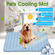 Pet Pad Summer Cooling Mat for Dogs Ice Pet Dog Cat Bed Mats Portable Tour Camping Cool Cold for Cats Sofa Dog Accessories цена