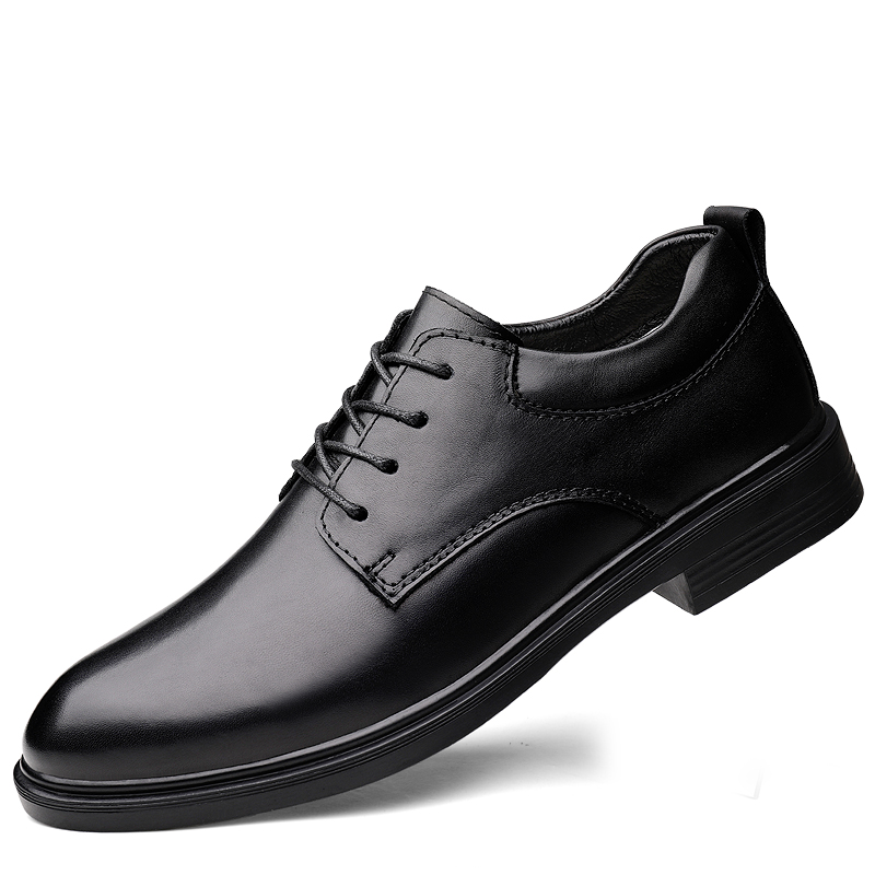 Size 36-49 Men'S Leather Formal Shoes Lace Up Dress Shoes Oxfords Fashion Retro Shoes Elegant Work Footwear Men Dress Shoe %