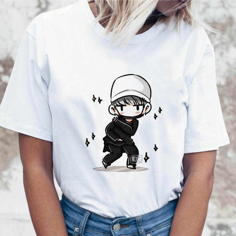 Jungkook Kpopเสื้อSuga J Hopeผู้หญิงJin JIMIN V Top TshirtสำหรับK Popเกาหลีแฟชั่นTeesตลกหญิงเสื้อยืดK-Pop
