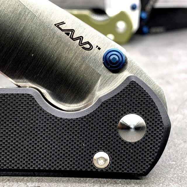 LAND 910 pocket folding knife 12C27 stainless steel blade ball bearing outdoor camping portable survival fishing edc tool 6