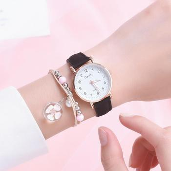 2021 NEW Women's Watches Simple Vintage Small Watch Leather Strap Casual Sport Clock Dress Wristwatches Women Relogio mujer 4