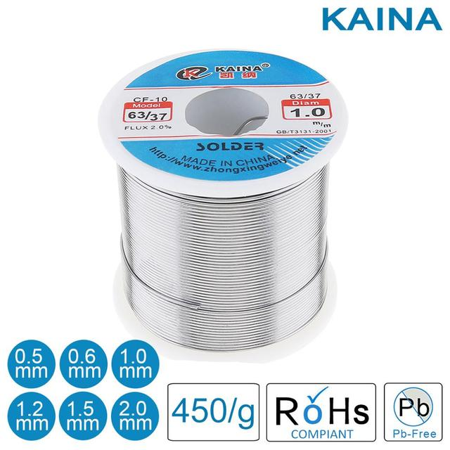 Solder Wire 0.5 0.6 0.8 1.0 1.2 1.5 2.0mm 450g 63/37 Welding Wire Solder with 2% Flux and Low Melting Point for Welding