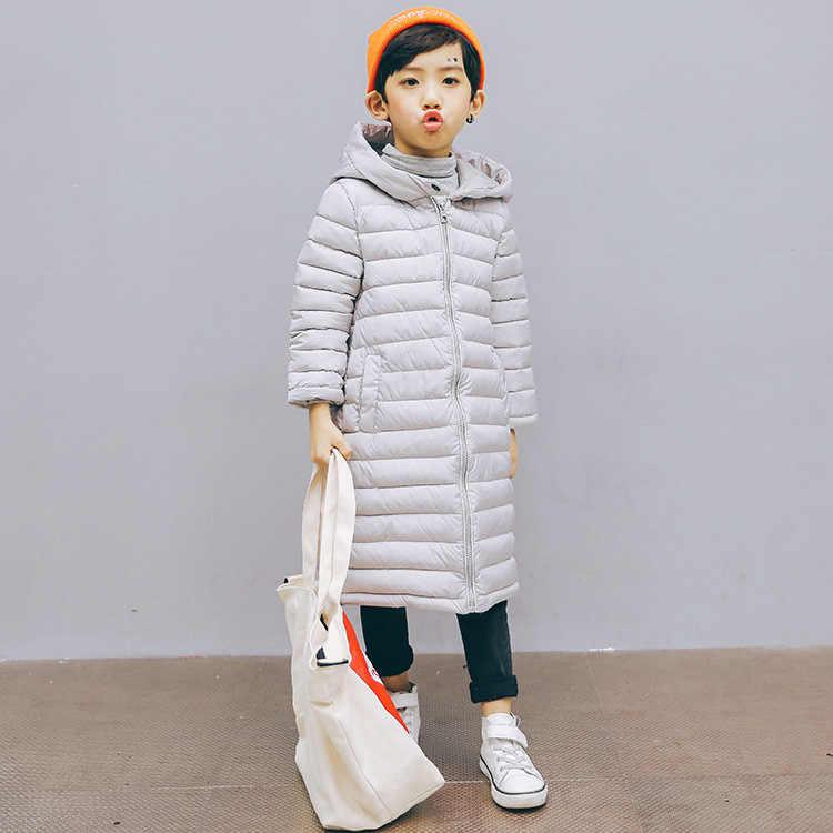 겨울 새 스타일 플러스 크기 어린이 코 튼 패딩 된 옷 남성과 여성을위한 어린이 의류 중간 길이 큰 소년 패딩 된 다우