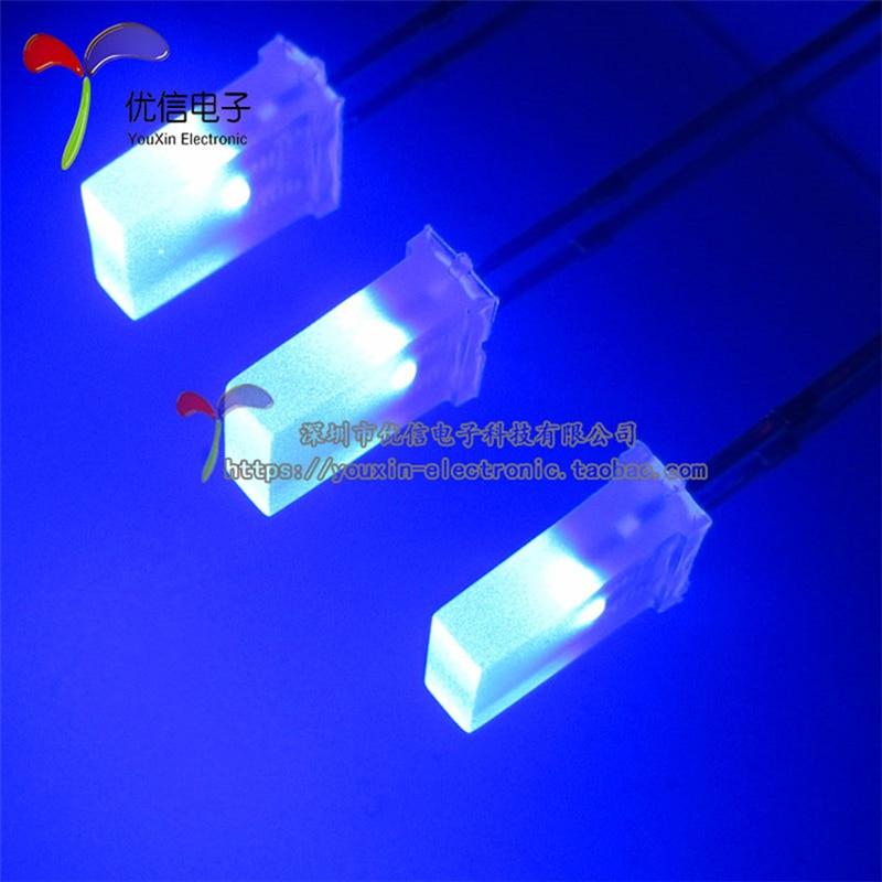 100PCS 2*5*7MM 257 DIP LED Emitting Diode Diffused BLUE Color 2X5X7MM DIP LED CUBE LEDS Good Quality Light Beads Lamps Chip Led
