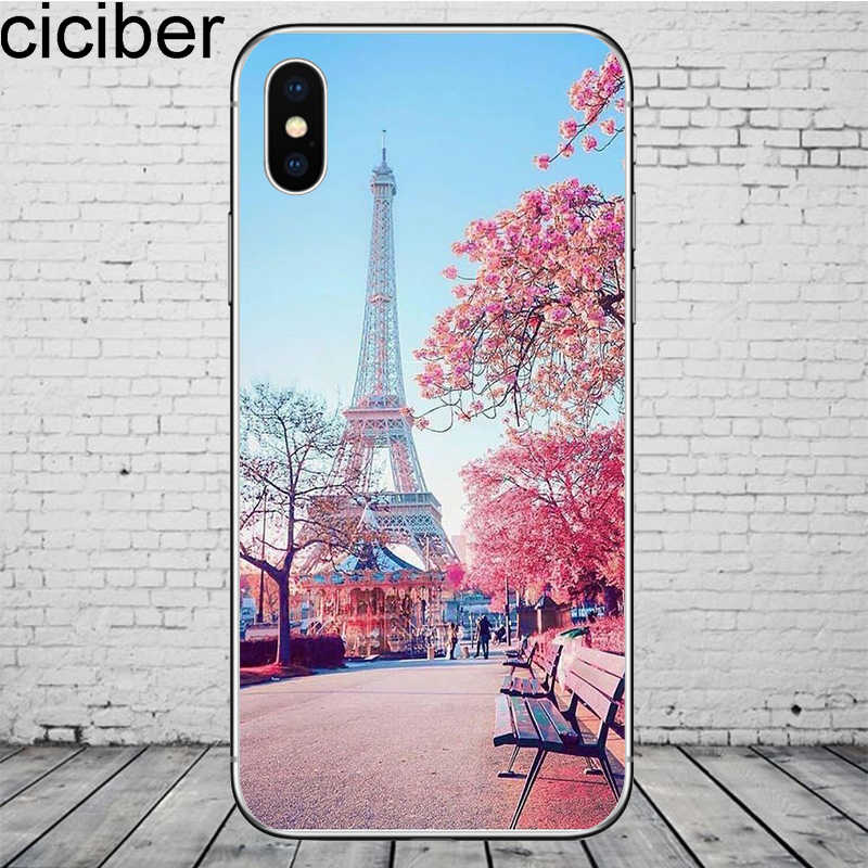 Ciciber باريس برج ايفل آيفون 11 برو ماكس غطاء إطار هاتف محمول آيفون 7 8 6S زائد X XR XS ماكس لينة سيليكون كوكه Fundas