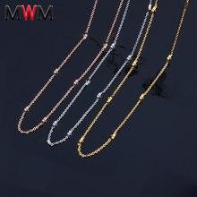 MWM stal nierdzewna stalowy łańcuch collier chocker długie naszyjniki odzież damska akcesoria bijoux indyjska biżuteria
