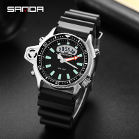SANDA Neue Mode Sport herren Uhr Casual Stil Uhren Männer Militär Quarz Armbanduhr Diver S Schock Mann relogio masculino 3008