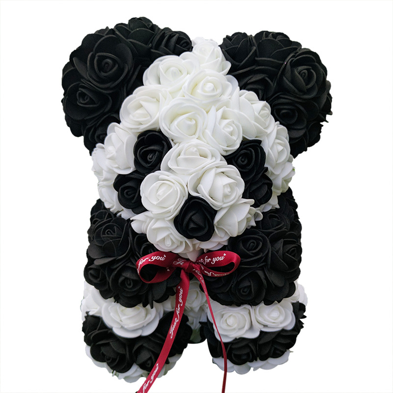 Heart Flower Gift Panda Pink Rose Bear Artificial Birthday Home-Decor Girlfriend Wedding title=