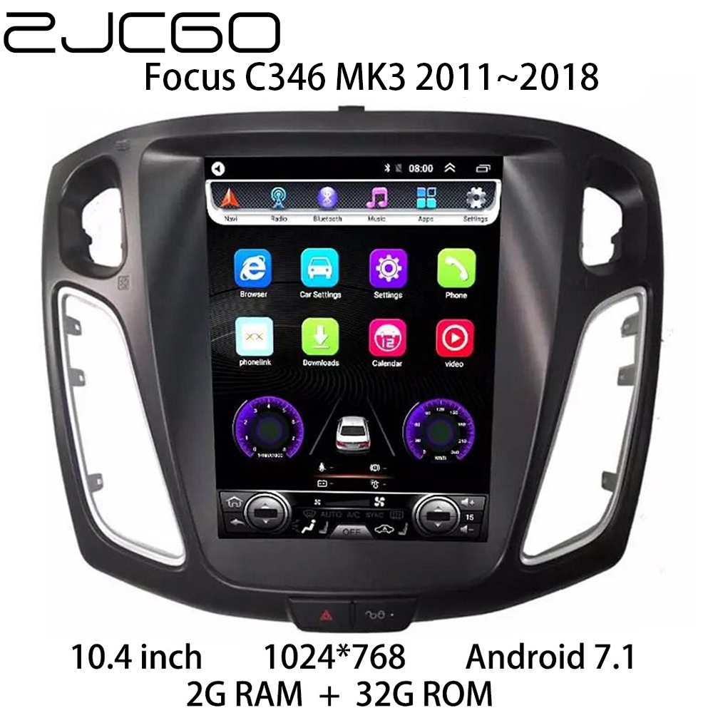 Car Multimedia Player Stereo GPS DVD Radio <font><b>Navigation</b></font> Android Screen for <font><b>Ford</b></font> <font><b>Focus</b></font> MK3 2011 2012 2013 2014 2015 2016 <font><b>2017</b></font> 2018 image