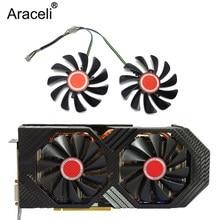 2 pces/set95mm FDC10U12S9-C cf1010u12s cf9010h12s xfx rx580 gpu ventilador mais frio para seu rx 590 580 570 placa gráfica de refrigeração