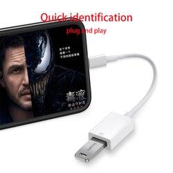 OTG 전화 Aux 어댑터 iPhone 7 8 11 용 USB 케이블 변환기에 8 핀/조명 전기 피아노 MIDI 지원 iOS13 연결