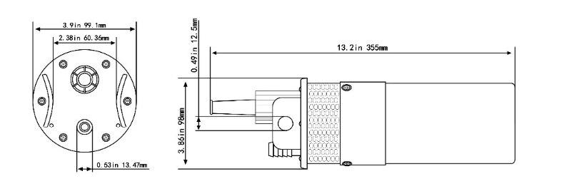 YM2440-30 6lpm poços de irrigação alimentado submersível 12 dc bomba de água solar