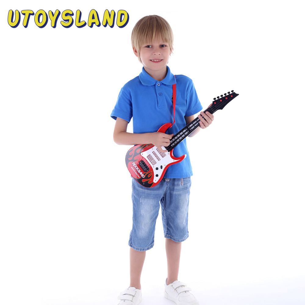 New Hot Rock Band Music Electric Guitar 4 Strings Kids Musical Instruments Educational Toys For Children Birthday Gift